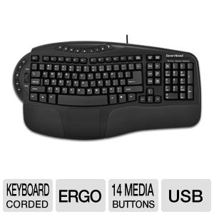 GearHead KB4200NPU Ergonomic Multimedia Keyboard