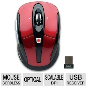 Gear Head MPT3200RED Optical Wireless Mouse