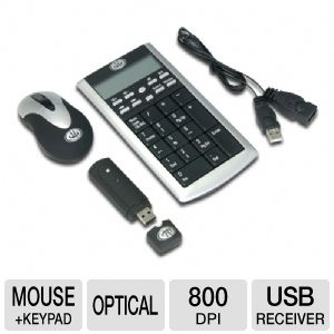 Gear Head KPCM4200W Wireless Keypad & Optcal Mouse