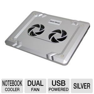 Gear Head Dual-Cool Notebook Cooling Pad Silver