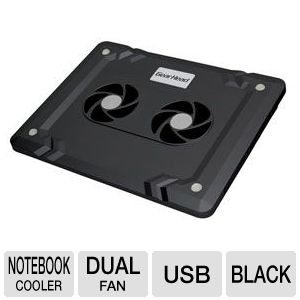 Gear Head Dual-Cool Notebook Cooling Pad Black