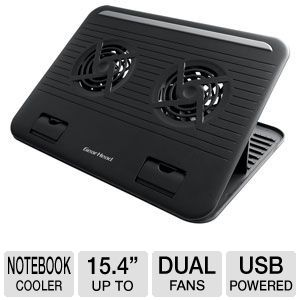 Gear Head Dual-Cool 15.4&quot; Notebook Cooling Stand