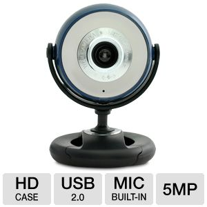 Gear Head WCF2600HDBLU Quick HD WebCam Blue/Blk