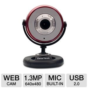 Gear Head Plug-n-Play WebCam 1.3 MP