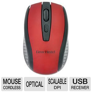 GearHead MP2225RED Wireless Optical Nano Mouse