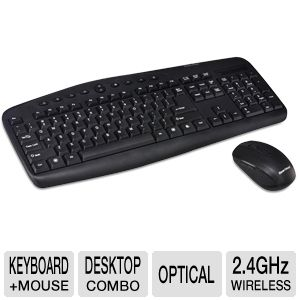 Gear Head Wireless Keyboard & Optical Mouse Combo