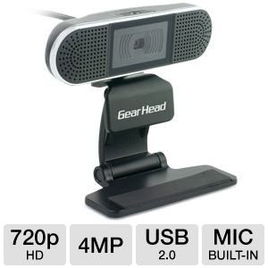 Gear Head 720p HD Webcam