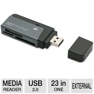 Gear Head SD/MS All-In-One USB 2.0 Card Reader