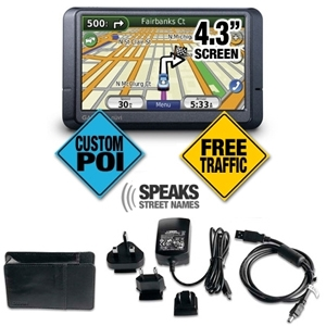 Garmin Nuvi 265WT GPS and GPS Travel Pack Bundle