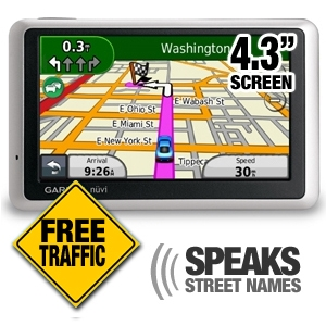 "Garmin Nuvi 1350T 4.3"" TTS, Traffic"