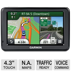 "Garmin n�vi� 2455LMT 4.3"" Splt Scrn Automotive GPS"