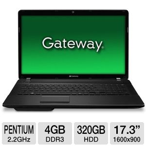 "Gateway Pentium 4GB 17.3"" Black Notebook"