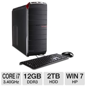 Gateway Core i7 2TB HDD 12GB DDR3 Desktop PC