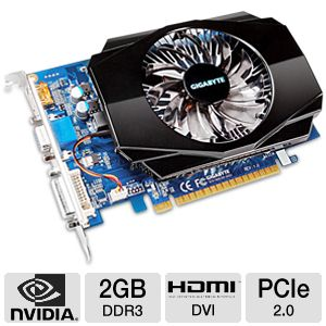 Gigabyte GeForce GT 630 2GB DDR3 Video Card