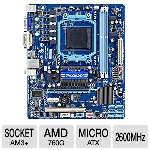 GIGABYTE GA-78LMT-S2P AMD 760 AM3+ Motherboard