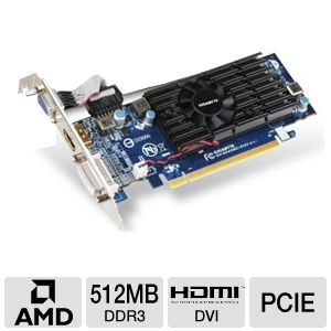 GIGABYTE Radeon HD 5450 OC DDR3 512MB LP PCIe