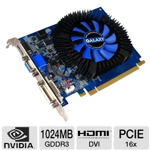 Galaxy GeForce GT 430 1GB GDDR3 PCIe Video Card