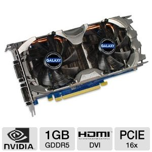 Galaxy GeForce GTX 560 Ti 1GB GDDR5 PCIe 2.0