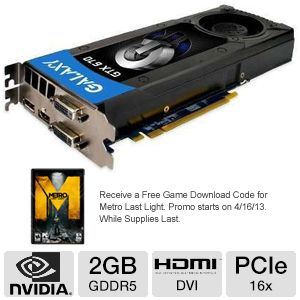 Galaxy GeForce GTX 670 2GB  Video Card