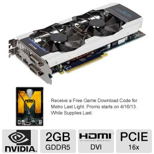 Galaxy GeForce GTX 670 GC 2GB Video Card