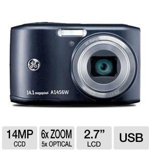 GE A1456W-BK 14MP LCD Digital Camera