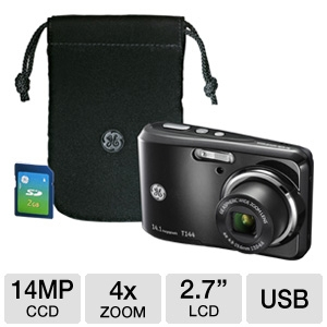 GE T144-BKC Digital Camera Bundle