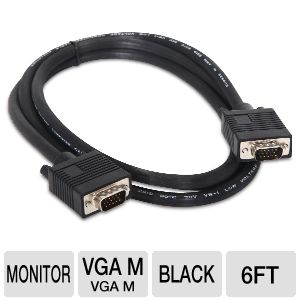PowerUp! 6ft VGA M/M Monitor Cable