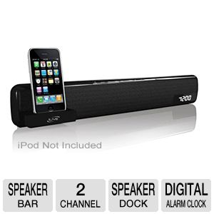 iLive iTP100B Bar Speaker with iPod Dock
