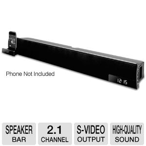ILIVE iTP180B Speaker Bar with Dock for iPhone