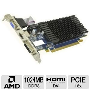 HIS Radeon HD 5450 1GB DDR3 PCIe, DVI/HDMI/VGA