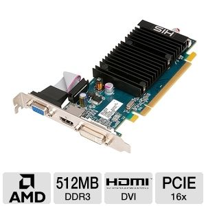HIS Radeon HD 5450 512MB DDR3 Video Card