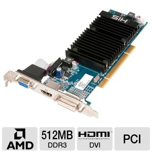 HIS Radeon HD 5450 512MB DDR3 PCI w/DVI/HDMI/VGA