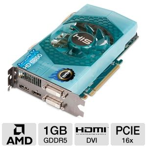 HIS Radeon HD 6850 IceQ X Turbo 1GB GDDR5 PCIe 2.1