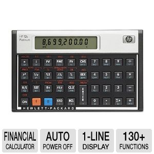 HP 12c Financial Calculator, Platinum Edition