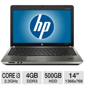 HP 14&quot; Core i3 500GB HDD Notebook