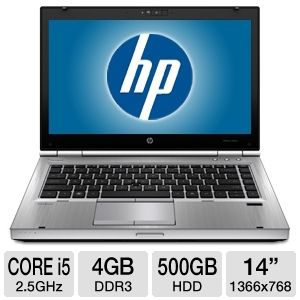 "HP EliteBook Core i5 4GB, 500GB HDD, 14"" No REFURB"