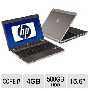 HP ProBook 4530s LJ475UT 15.6 inch 4GB LED Notebook Computer with 2.0Ghz Intel Core i7-263OQM Processor, 500GB HDD, Webcam, Bluetooth 3.0