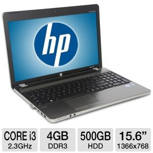 "HP ProBook 15.6"" Core i3 500GB HDD Notebook REFURB"