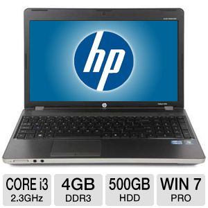 "HP ProBook 15.6"" Core i3 500GB Windows 7Pro Laptop"
