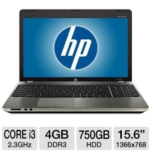"HP Probook 15.6"" Core i3 750GB HDD Blue-Ray Laptop"