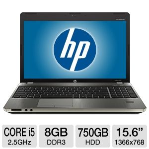 "HP 15.6"" Core i5 8GB 750GB HDD Windows 7Pro REFURB"
