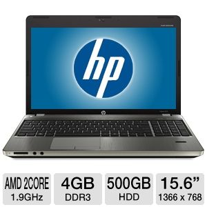 "HP 15.6"" AMD Dual-Core 500GB HDD Notebook PC"