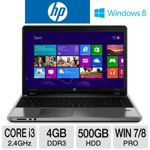 "HP ProBook 15.6"" Core i3 500GB HDD Notebook"