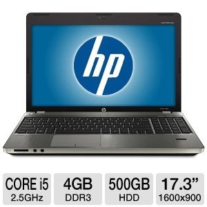 "HP ProBook 17.3"" Core i5 500GB HDD Notebook"
