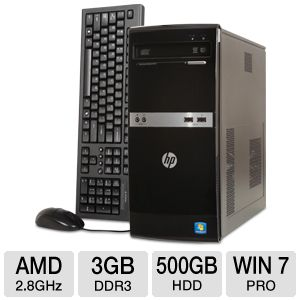 HP 505B B2C02UT Windows 7 Professional Desktop PC
