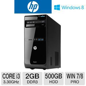 HP 3500 Pro Core i3 500GB HDD 2GB DDR3 Desktop PC