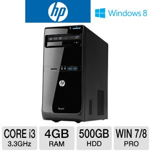 HP 3500 Pro Core i3 500GB HDD 4GB DDR3 Desktop PC