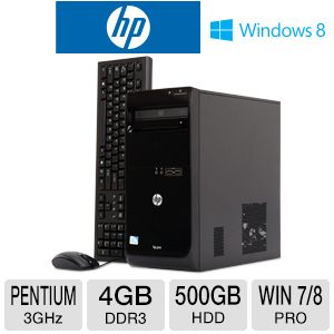 HP 3500 Pro Pentium 500GB HDD 4GB DDR3 Desktop PC