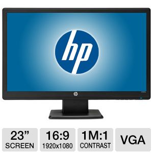 "HP 23"" Wide 1080p LED Monitor, Speakers, VGA"