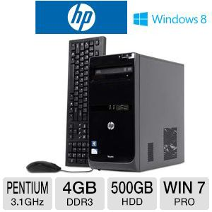 HP Pro 3500 Pentuim 500GB HDD 4GB DDR3 Desktop PC